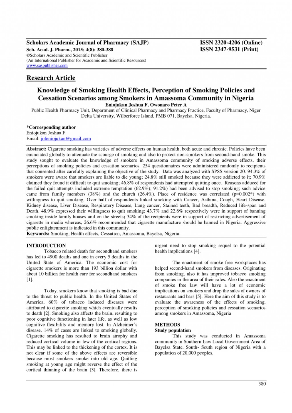 010 Largepreview Example Research Paper Smoking Top Pdf Large