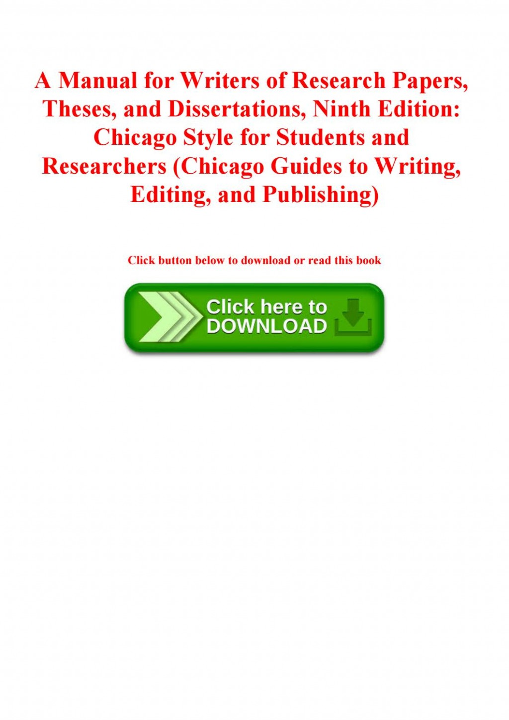 010 Manual For Writers Of Research Papers Theses And Dissertations 9th Edition Pdf Paper Page 1 Wonderful A Large