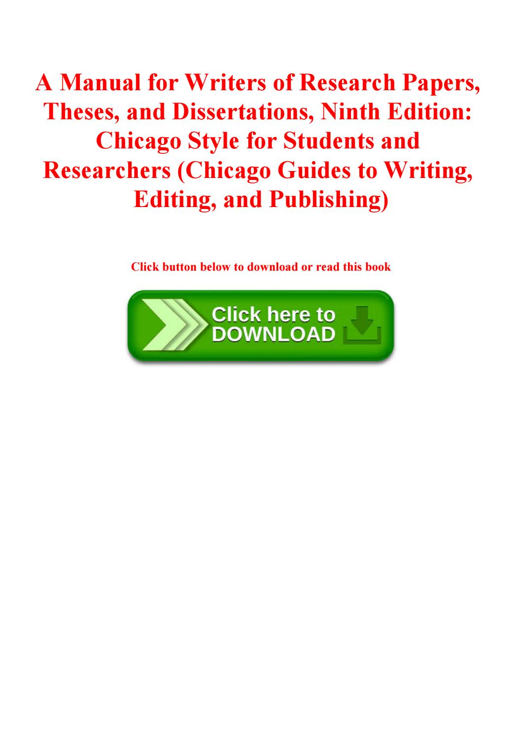 010 Manual For Writers Of Research Papers Theses And Dissertations 9th Edition Pdf Paper Page 1 Wonderful A Full
