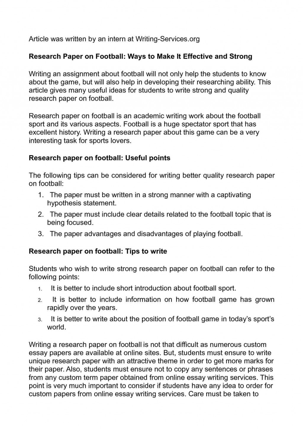010 P1 Research Paper Good Sports Topics For Magnificent Papers Large