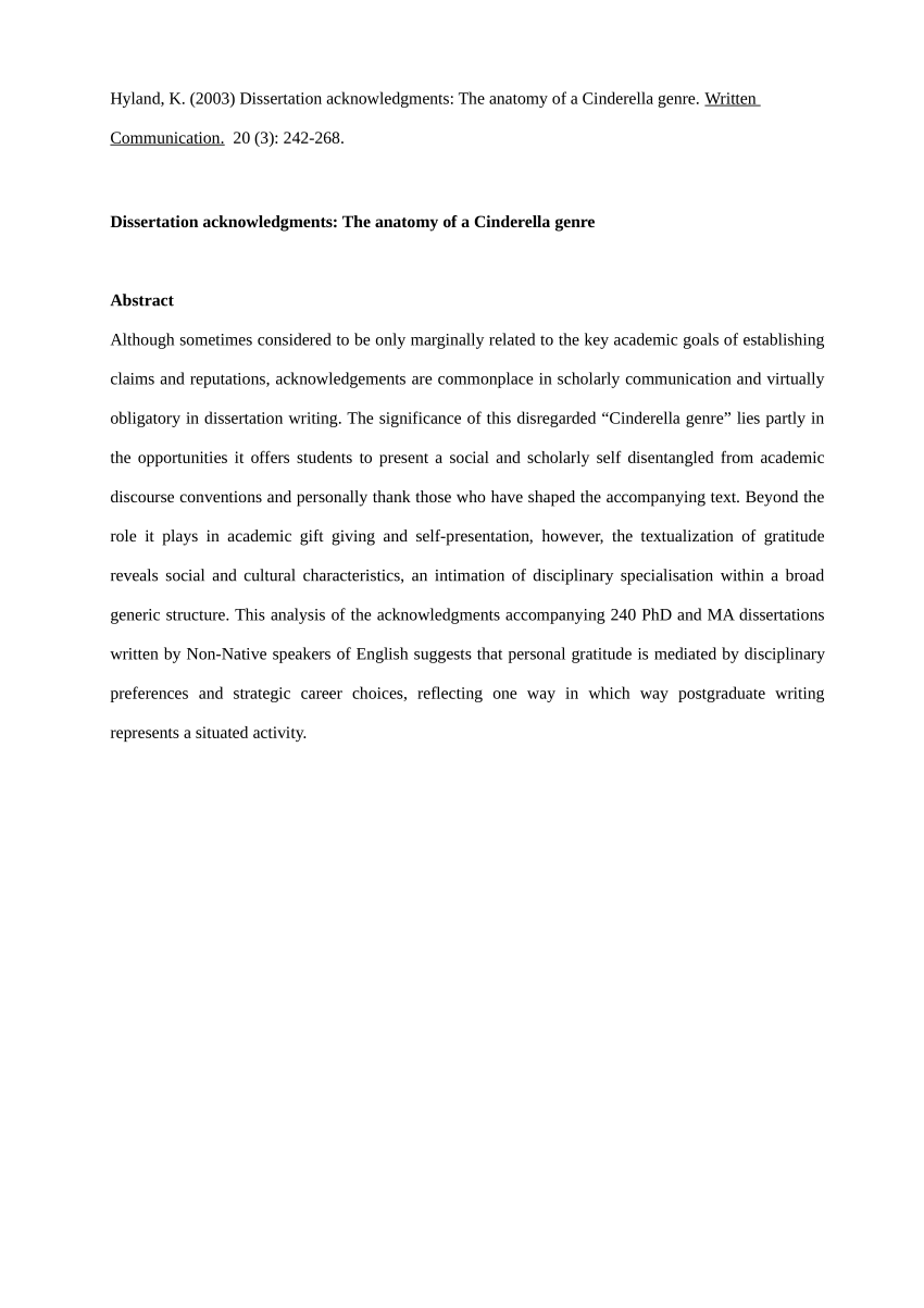 010 Research Paper Acknowledgement For Examples Striking Full