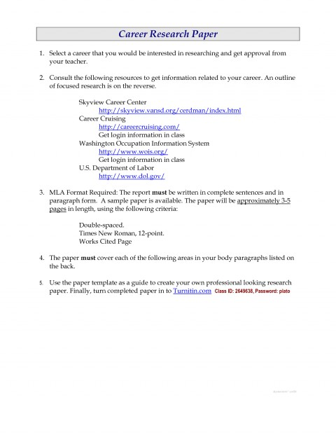 010 Research Paper Career Outline 477648 Unusual Template 480