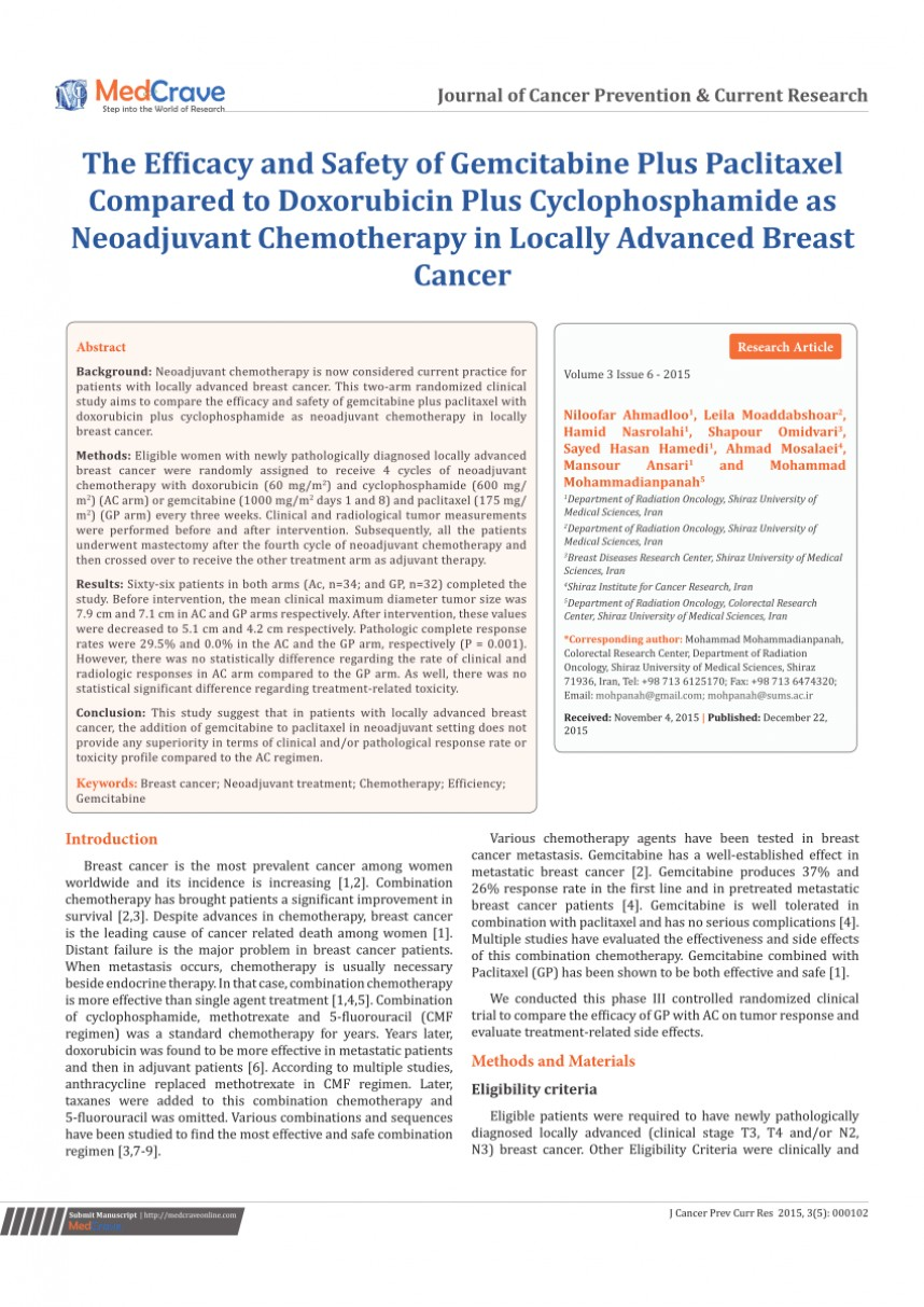 010 Research Paper Current Studies On Breast Cancer Wondrous