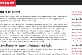 010 Research Paper Good Easy Topics For Magnificent A Science Papers Argumentative Biology