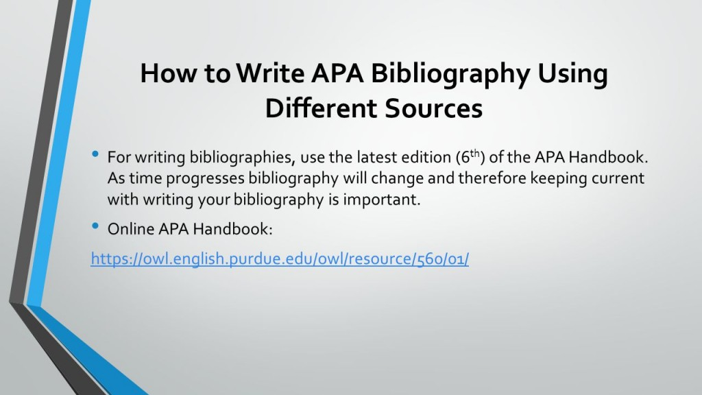 010 Research Paper Howtowriteapabibliographyusingdifferentsources How To Write References In Awful Ppt Large