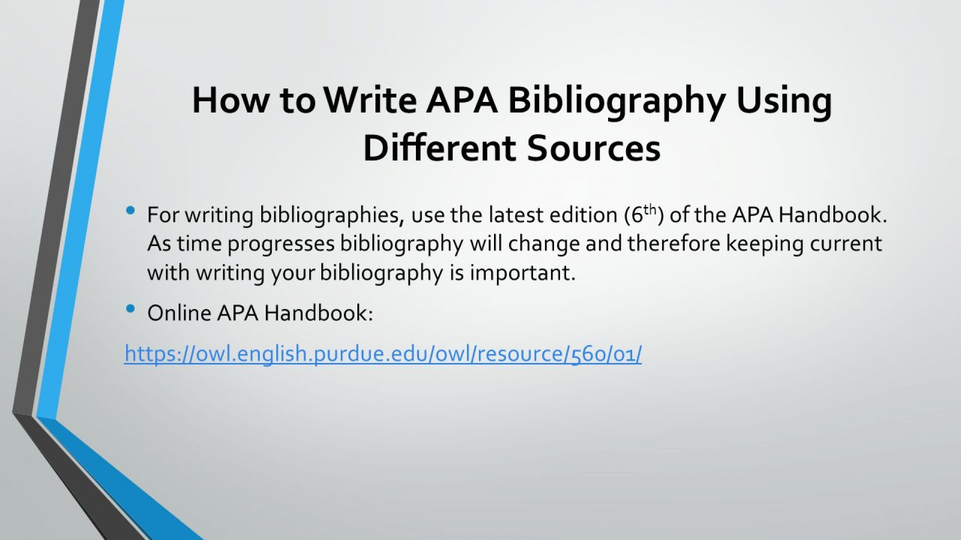010 Research Paper Howtowriteapabibliographyusingdifferentsources How To Write References In Awful Ppt 1920