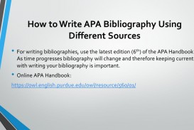 010 Research Paper Howtowriteapabibliographyusingdifferentsources How To Write References In Awful Ppt