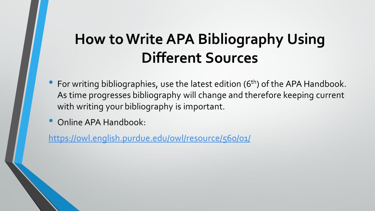 010 Research Paper Howtowriteapabibliographyusingdifferentsources How To Write References In Awful Ppt Full