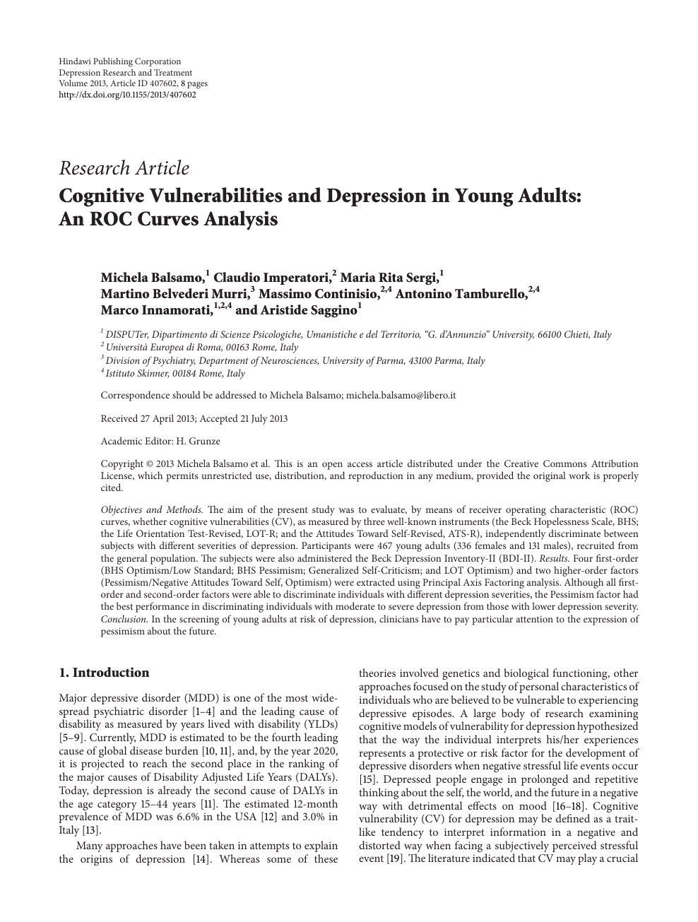 010 Research Paper Introduction To Stunning Depression Full