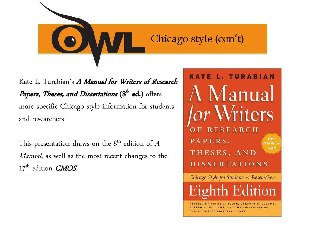 010 Research Paper Manual For Writers Of Papers Theses And Dissertations 8th Imposing 13 Large