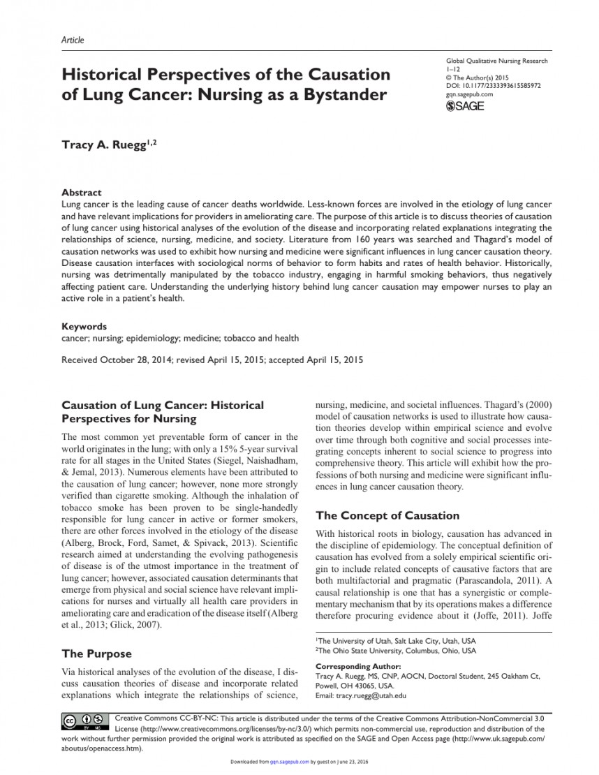 010 Research Paper On Singular Cancer Treatment Work Awareness