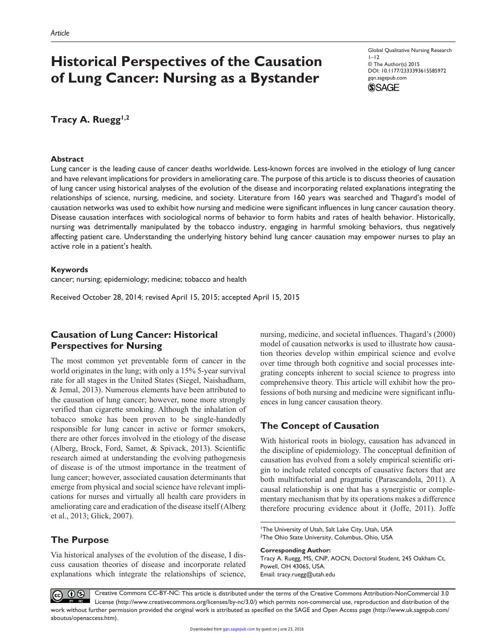 010 Research Paper On Singular Cancer Treatment About Lung Pdf Screenings Full