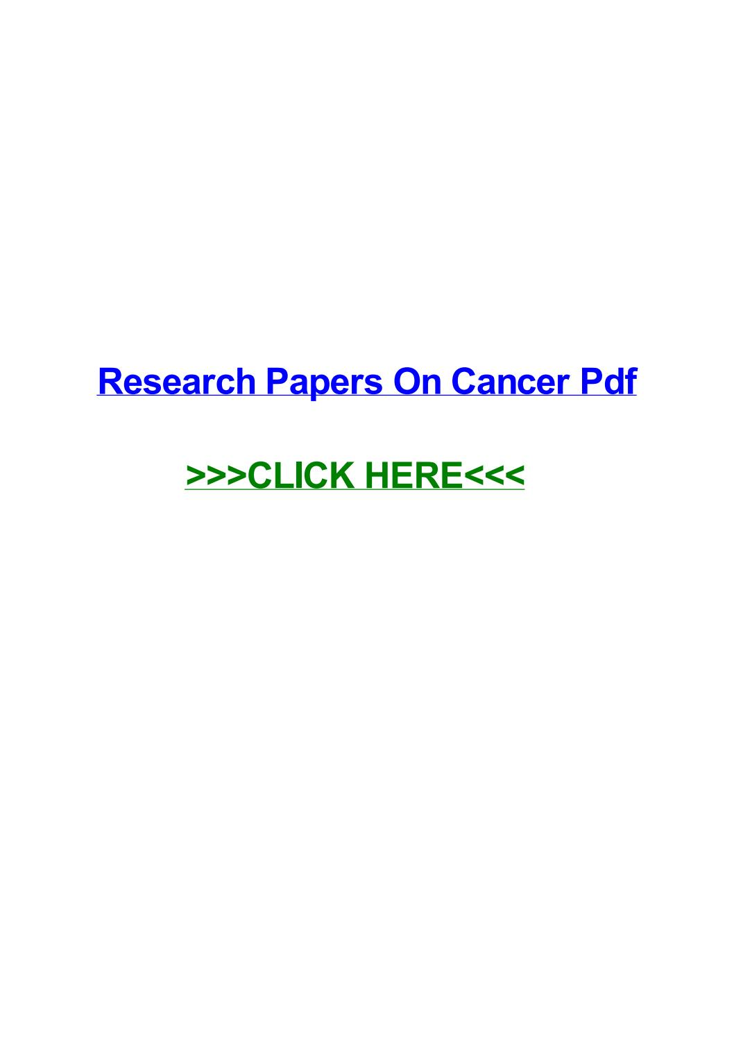 010 Research Paper Page 1 Cancer Papers Fascinating Pdf Lung Colon Skin Full