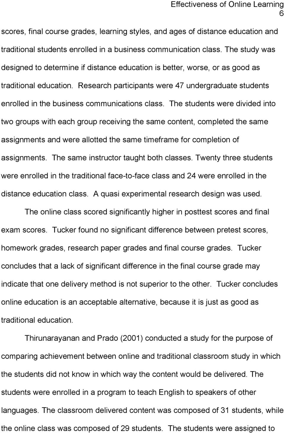 010 Research Paper Page 6 Effectiveness Of Online Amazing Education Full