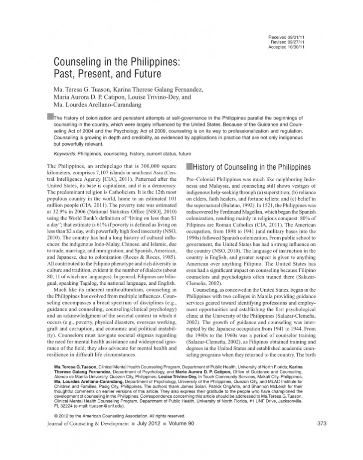 010 Research Paper Poverty In The Philippines Pdf Impressive 728