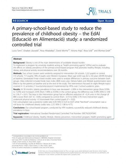 010 Research Paper Primary Article On Childhood Obesity Imposing 480