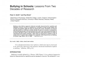 010 Research Paper Psychological Effects Of Bullying Breathtaking 320