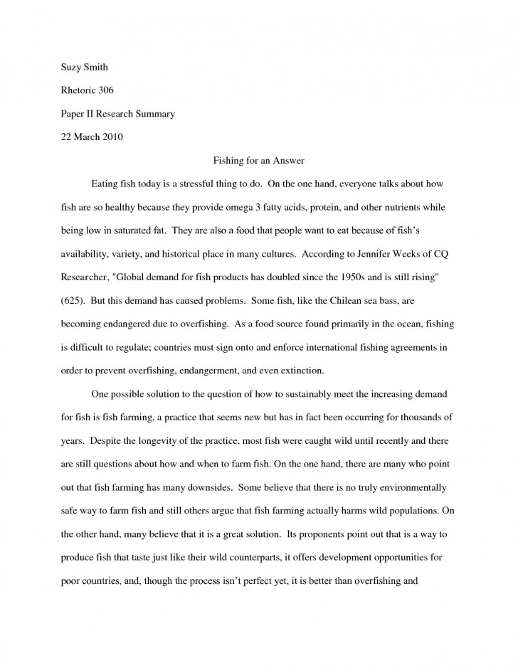 010 Research Paper Summary Sample 551059 How To Write Phenomenal A Good Conclusion And Recommendation Of Synopsis For 728