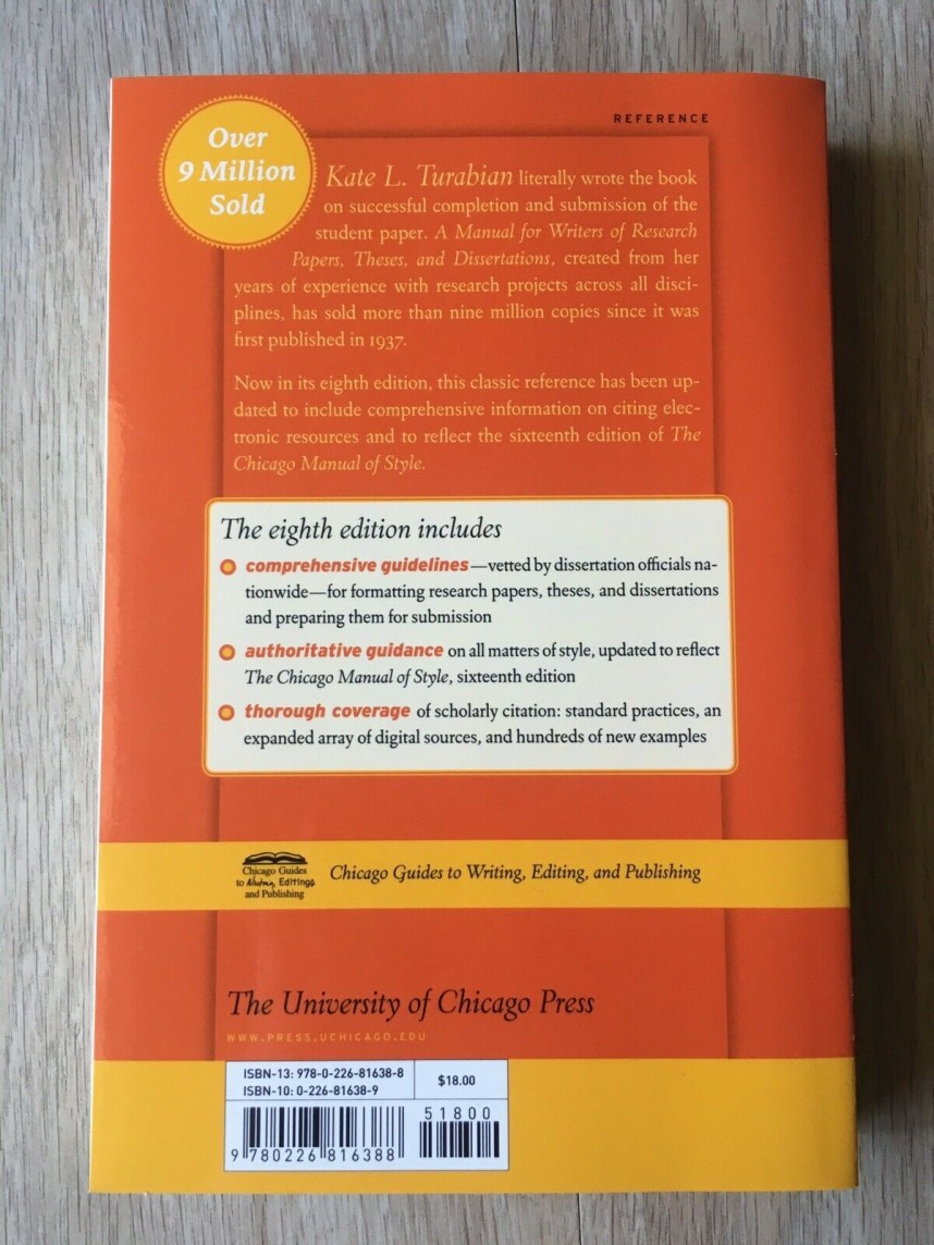 010 S L1600 Manual For Writers Of Researchs Theses And Dissertations Chicago Style Students Rare A Research Papers