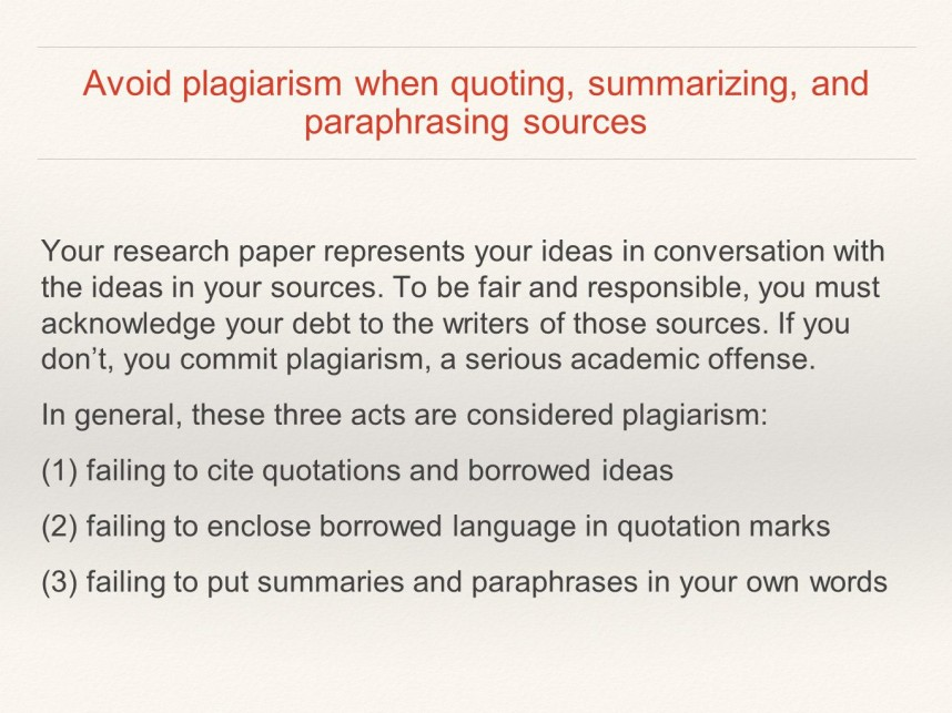 010 Slide 3 Research Paper Citing Sources Within Unforgettable A Different Ways To Cite In How Source Without An Author