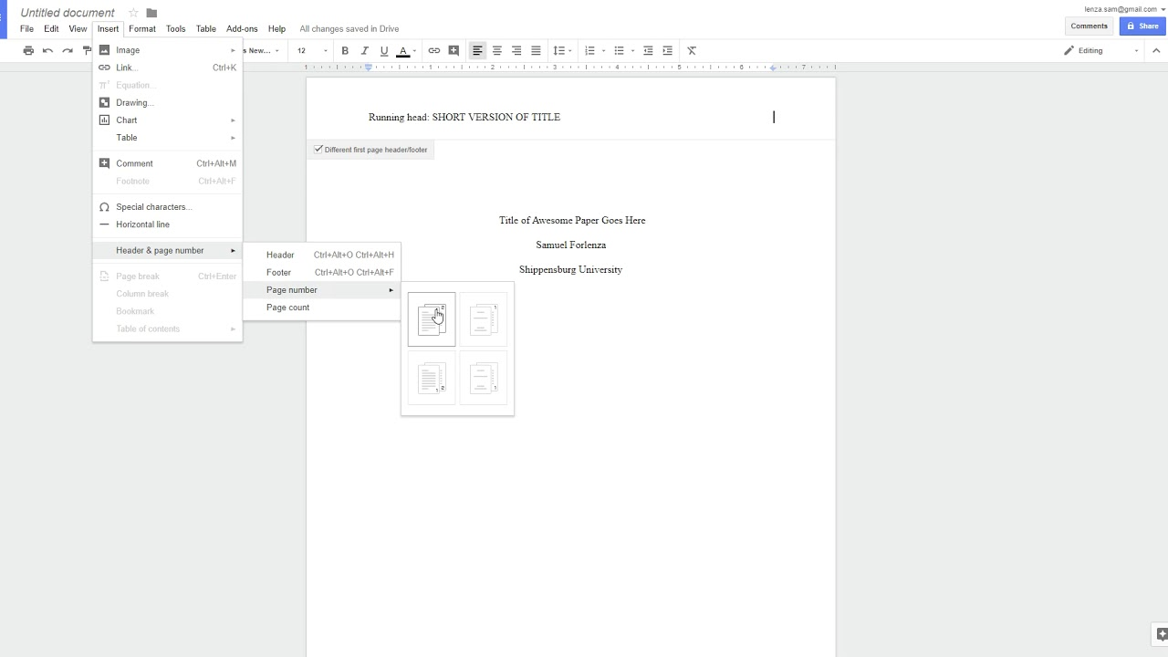 011 Apa Research Paper Template Google Docs Magnificent Full
