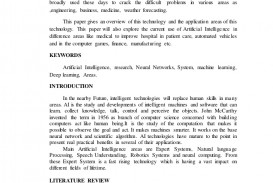 011 Artificial Intelligence Research Papers Paper Roleofartificialintelligencein21stcentury Thumbnail Unique 2017 Ideas