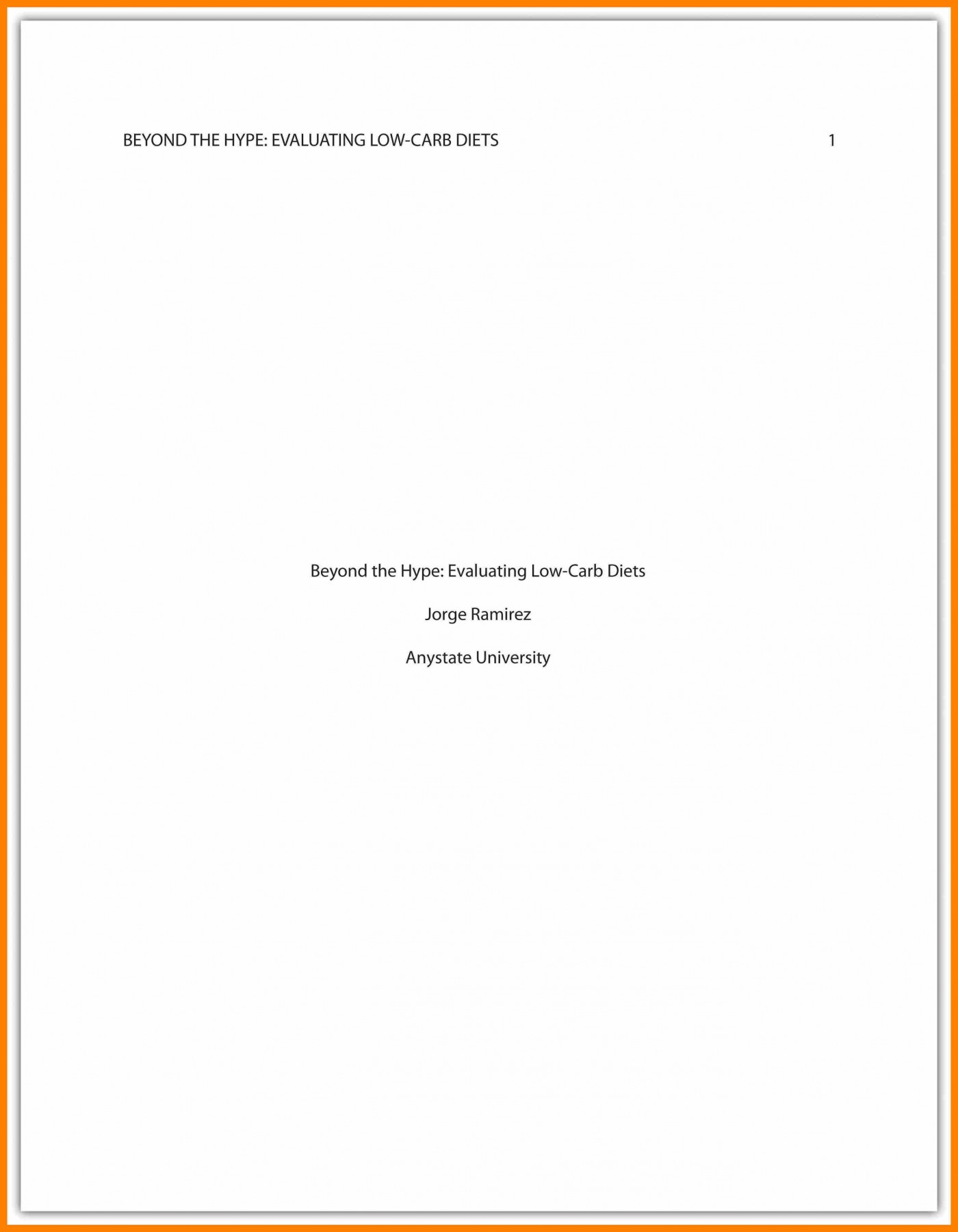 011 Asa Format Research Paper Example Sample Cover Page Apa Singular 1400