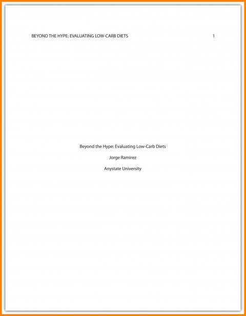 011 Asa Format Research Paper Example Sample Cover Page Apa Singular 480
