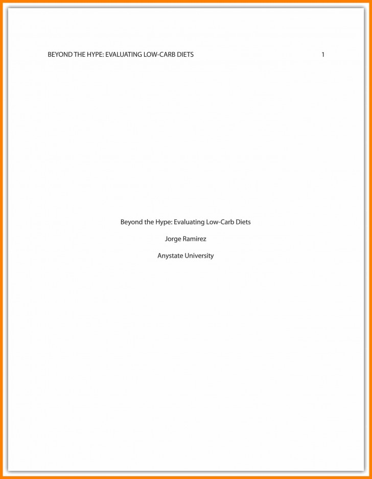 011 Asa Format Research Paper Example Sample Cover Page Apa Singular 728