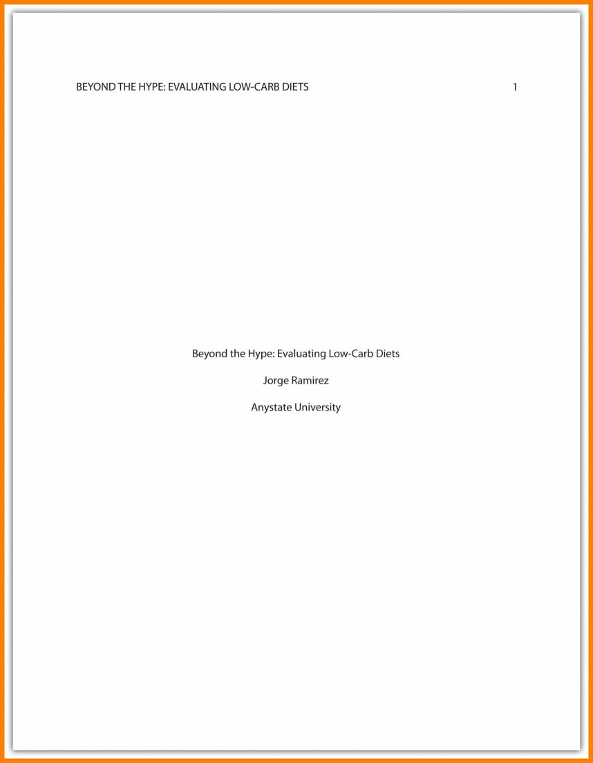 011 Asa Format Research Paper Example Sample Cover Page Apa Singular