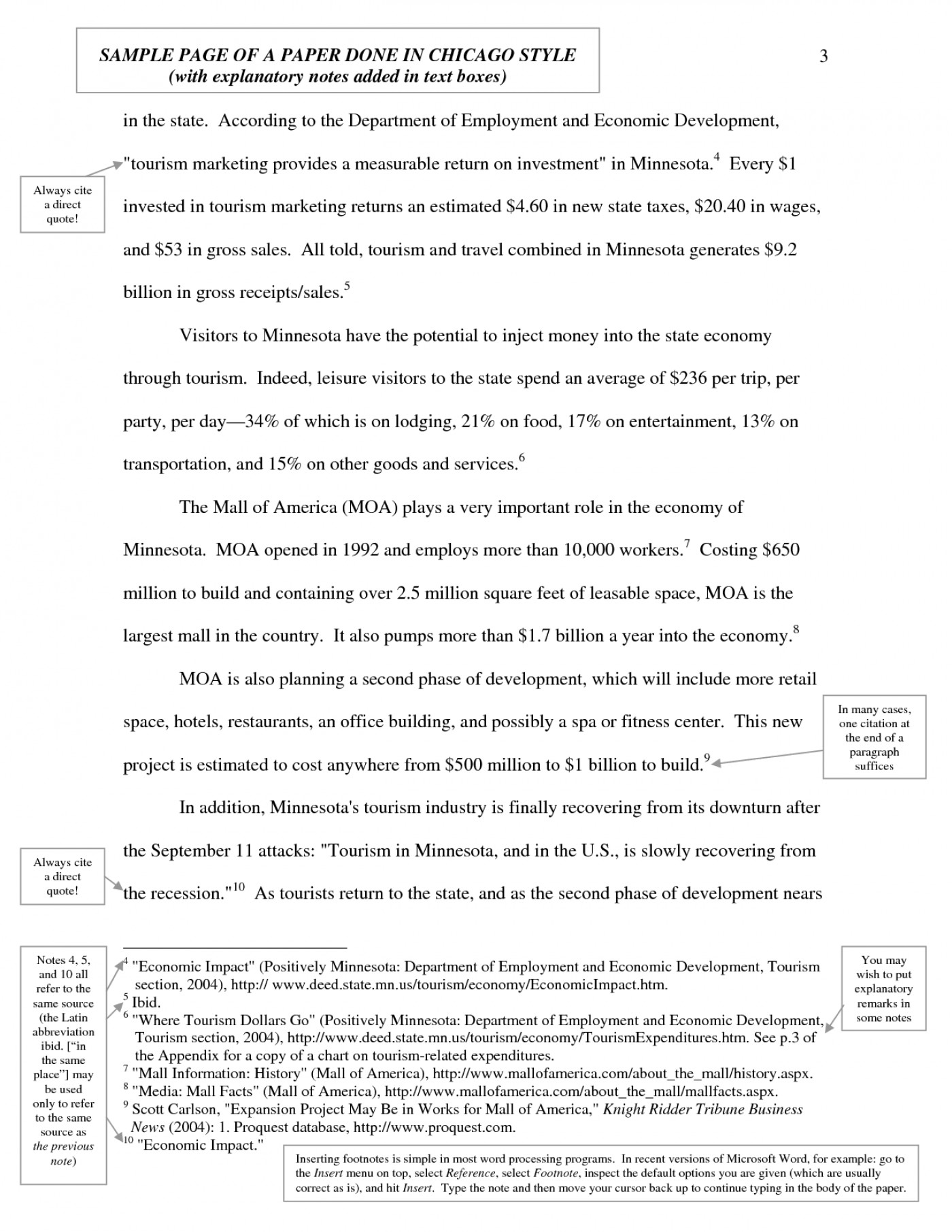 004 Research Paper Chicago Style In Text Citation Sample