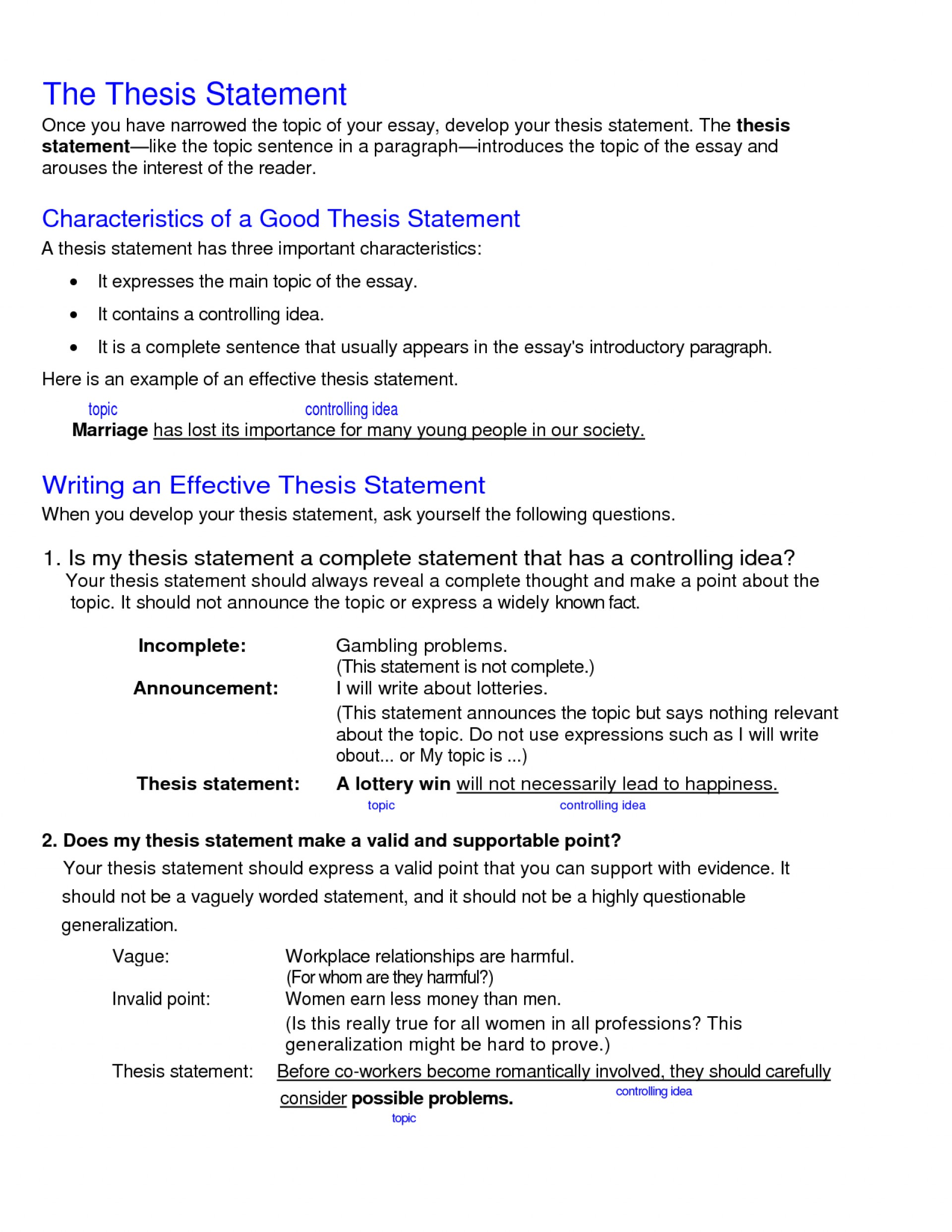 011 College Research Paper Thesis Statement Examples Stupendous 1920