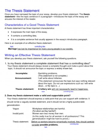 011 College Research Paper Thesis Statement Examples Stupendous 360