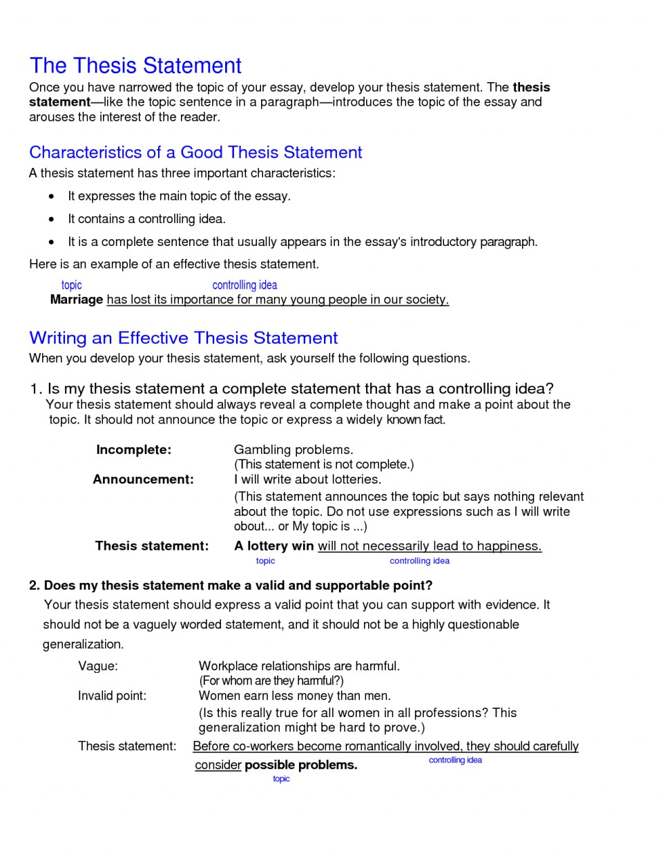 011 College Research Paper Thesis Statement Examples Stupendous 960