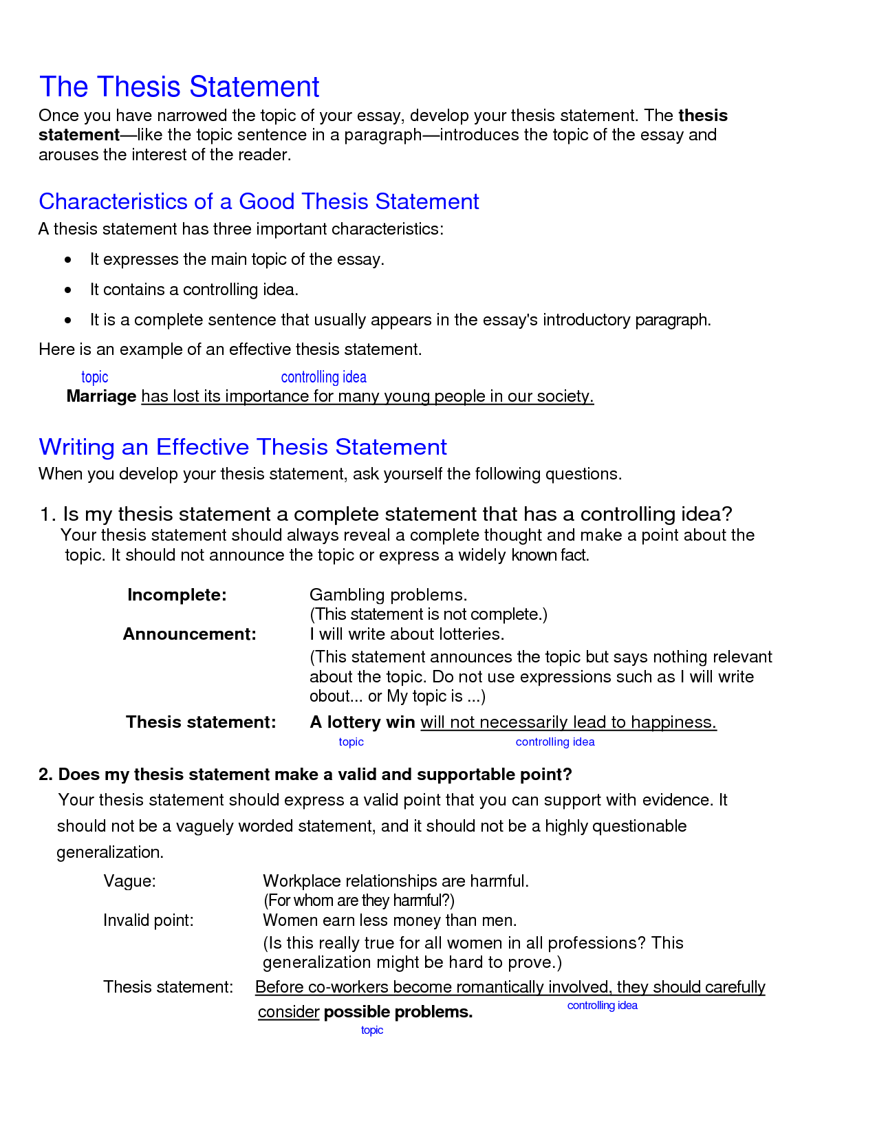 011 College Research Paper Thesis Statement Examples Stupendous Full