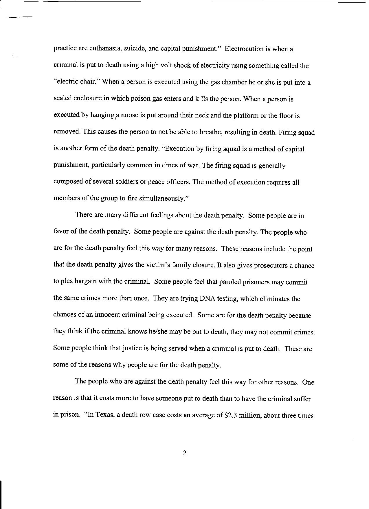 011 Death Penalty Research Paper Thesis Statement Pg Astounding Full