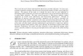 011 Effectiveness Of Online Education Research Paper Amazing