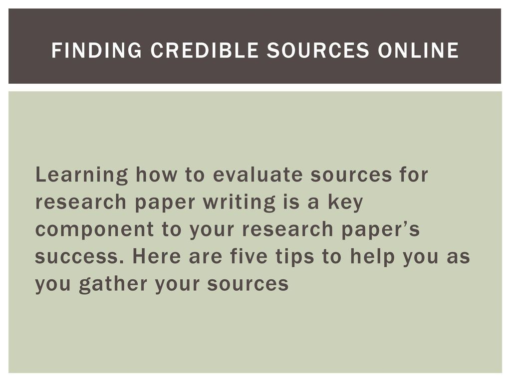 011 Findingcrediblesourcesonline Credible Sources For Researchs Awful Research Papers High School Paper List Of Large