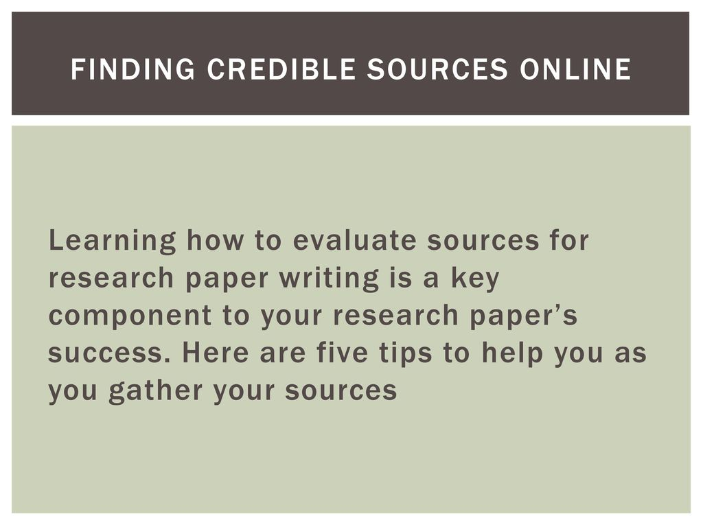 011 Findingcrediblesourcesonline Credible Sources For Researchs Awful Research Papers High School Paper List Of Full