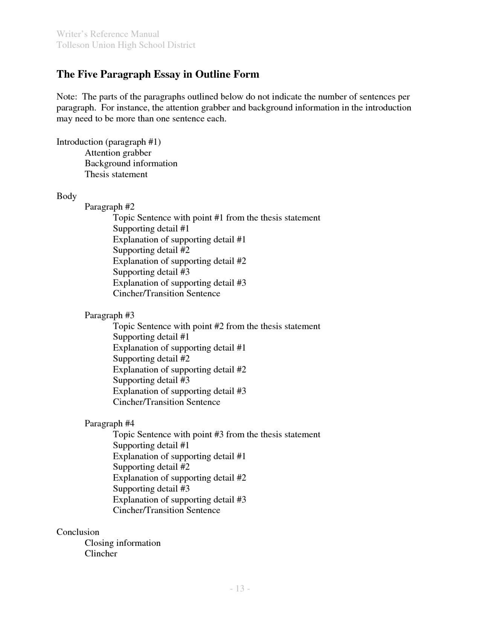 011 Intro Paragraph Outline Research Best Paper Introduction For 1920