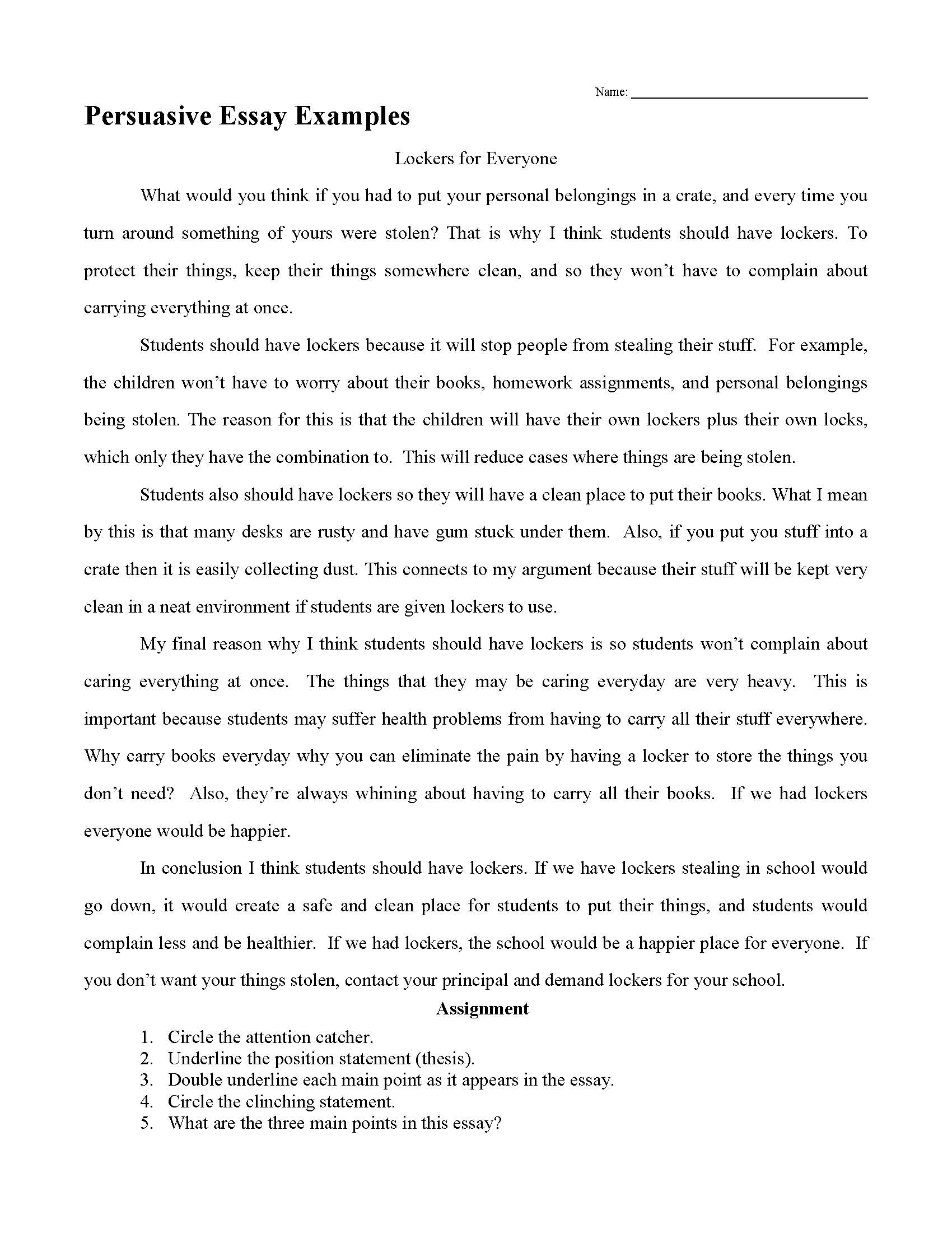 011 Middle School Science Fair Research Paper Template Persuasive Essay Examples Frightening Full