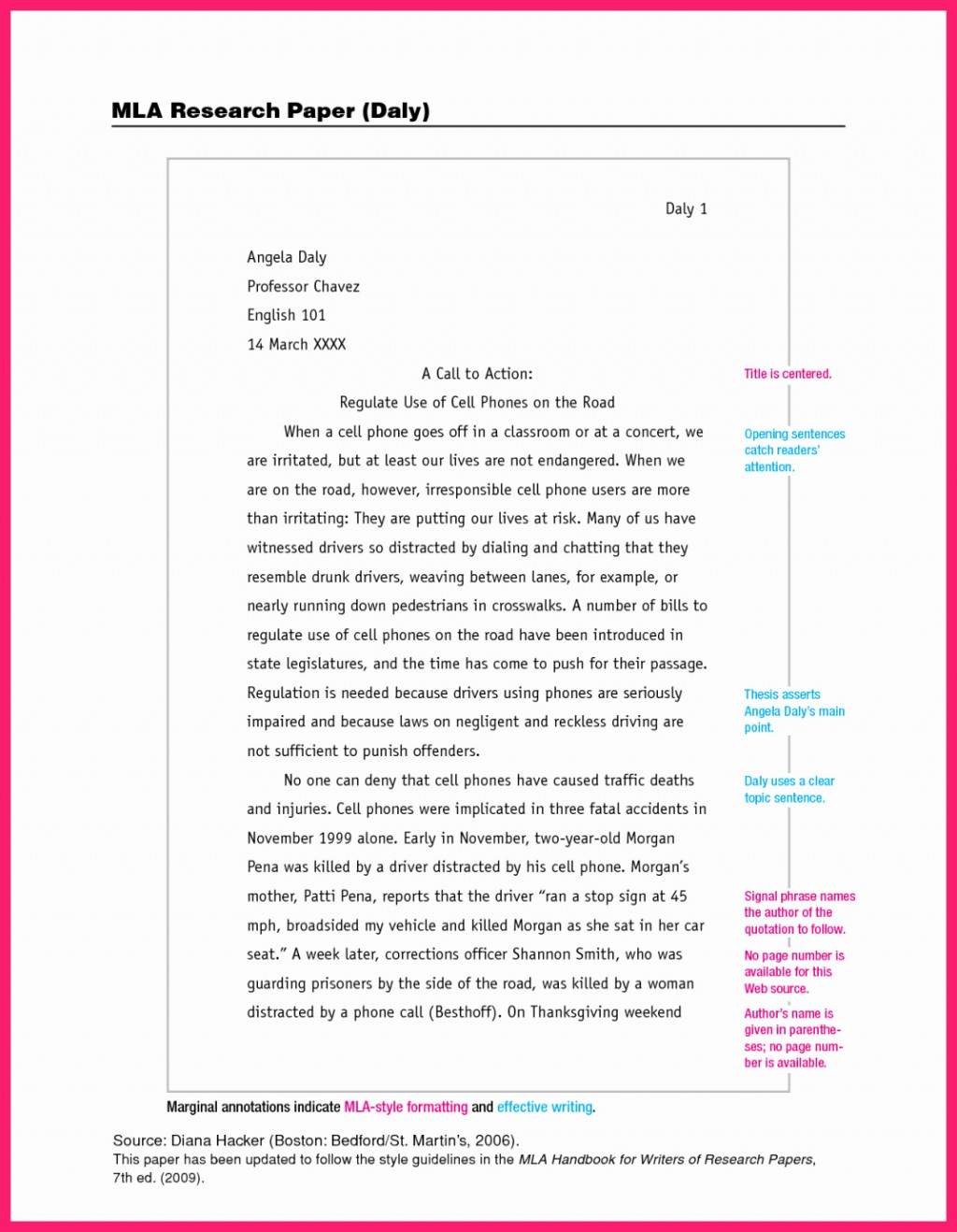 011 Mla Format For Research Papers Style Paper Luxury Best Heading Citing Large