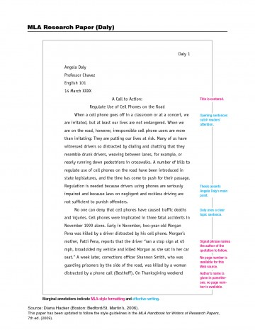 011 Mla Format Science Fair Research Paper Impressive 360