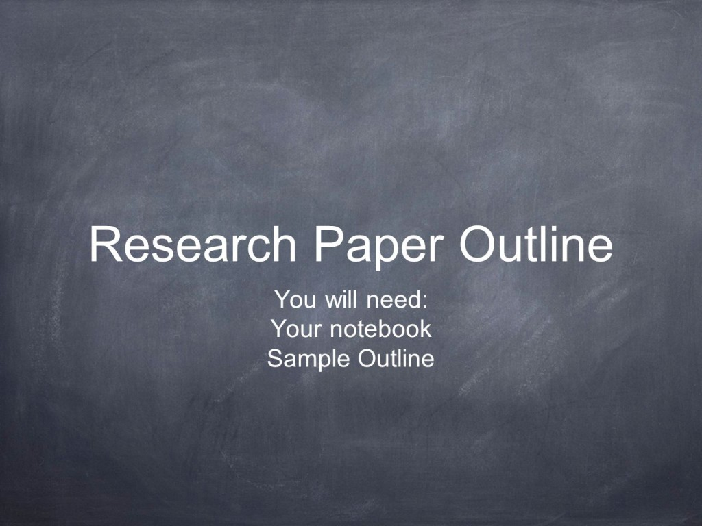 011 Outline For Research Paper Powerpoint Slide 1 Awesome Creating An A Large