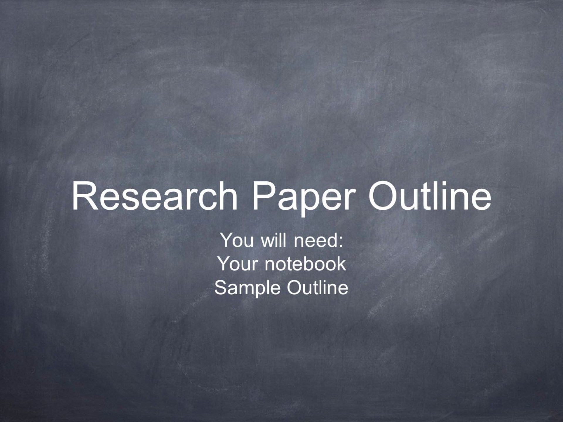 011 Outline For Research Paper Powerpoint Slide 1 Awesome Creating An A 1920