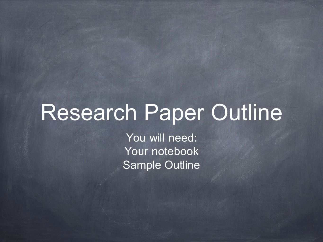 011 Outline For Research Paper Powerpoint Slide 1 Awesome Creating An A Full