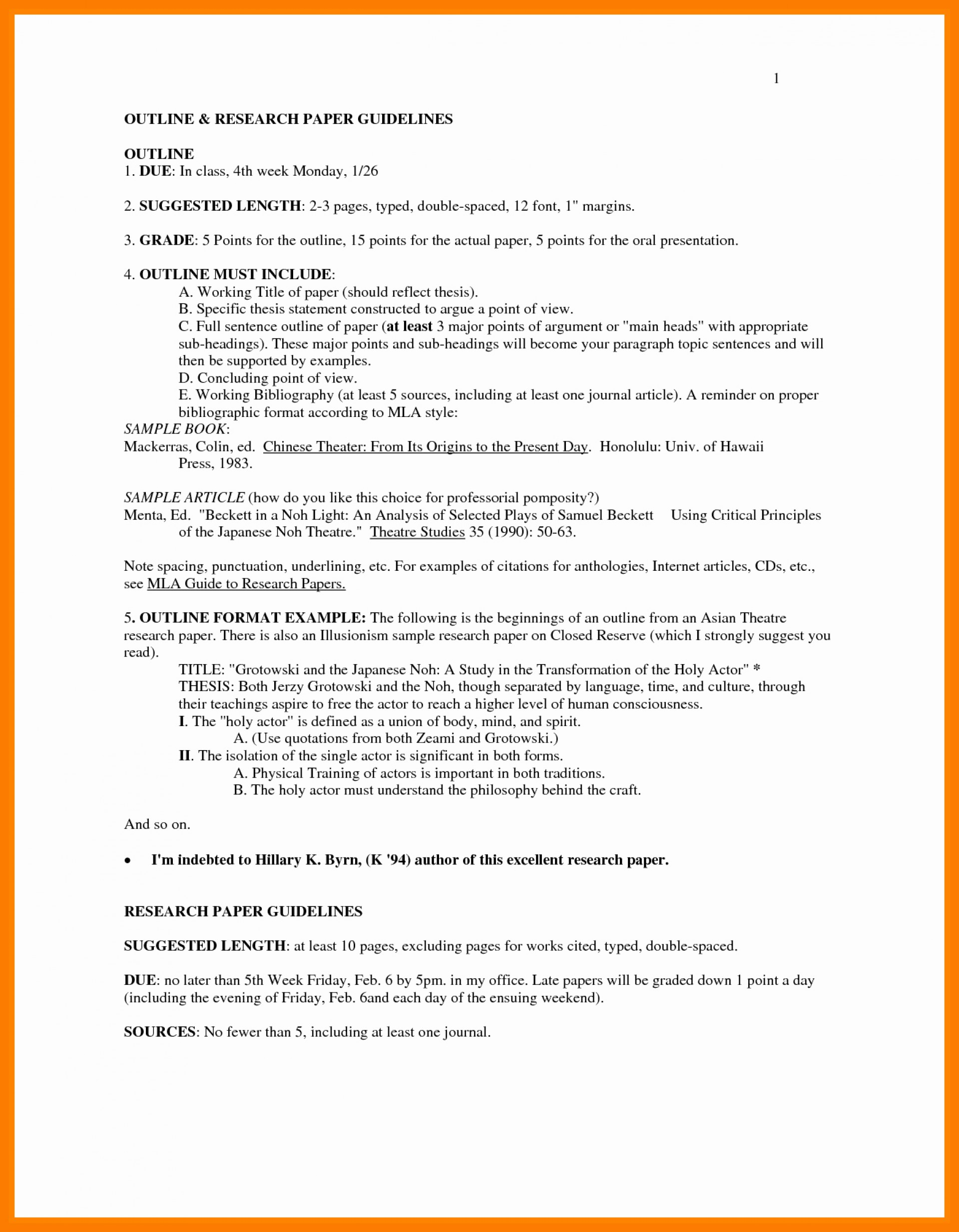 011 Outline Format For Research Paper Mla Style In Unique Sample Pages Formidable 1920