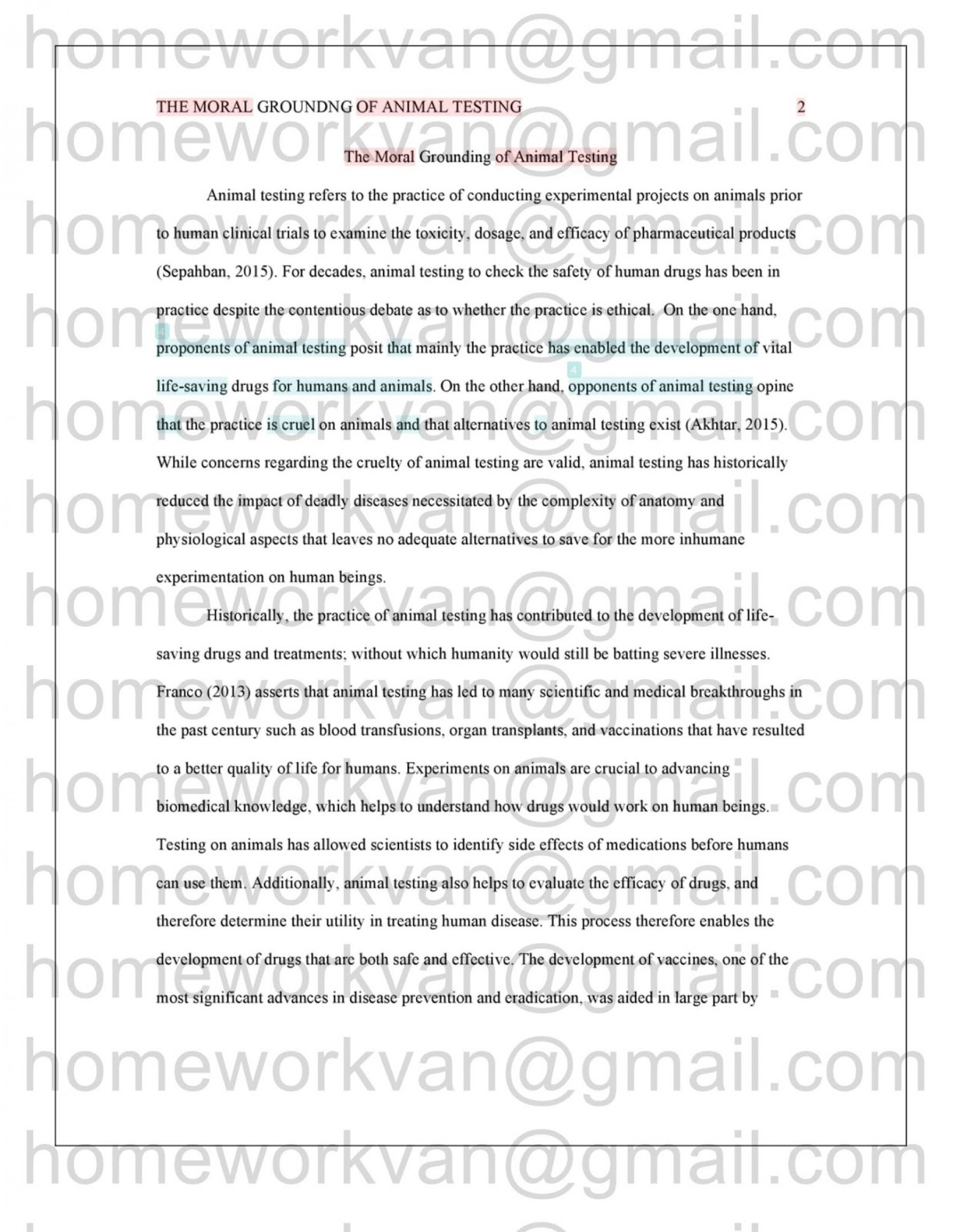 Life After High School Essay  English Learning Essay also Thesis Argumentative Essay  Animal Testing Research Paper Example Experimentation  Comparison Contrast Essay Example Paper