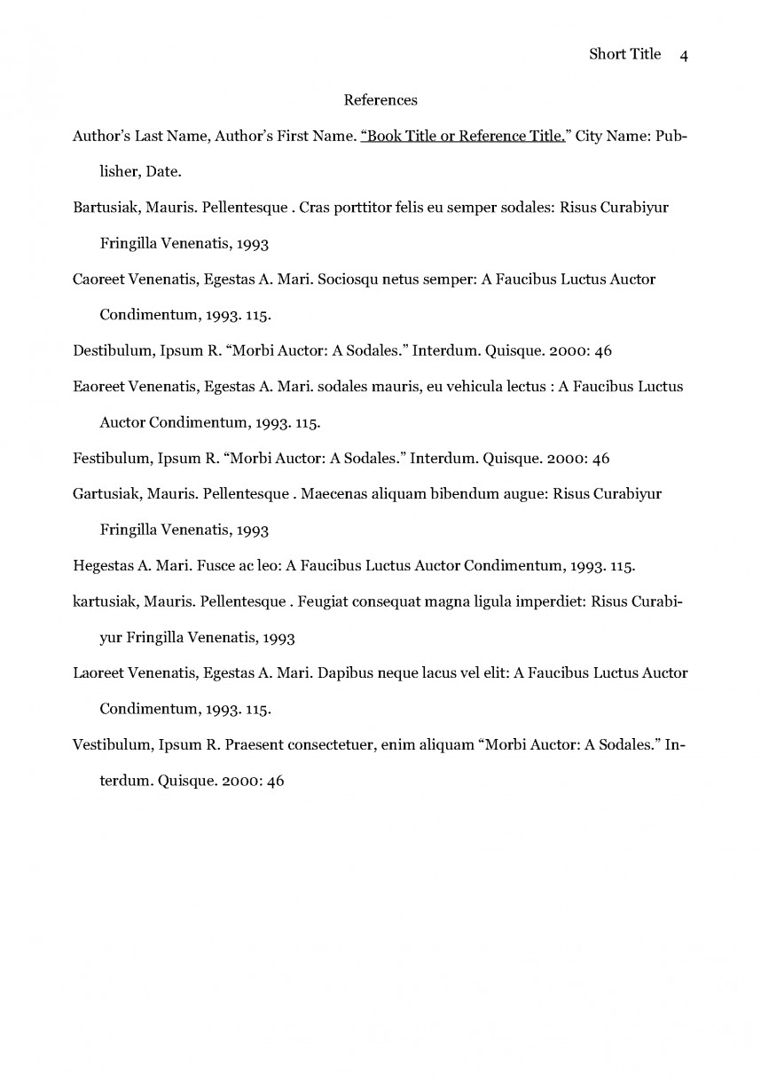 011 Research Paper Apa Referencing Style For Sample Page 4 Fantastic Citation Format Model Papers