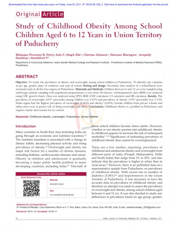 011 Research Paper Childhood Obesity Thesis Amazing Statement 360